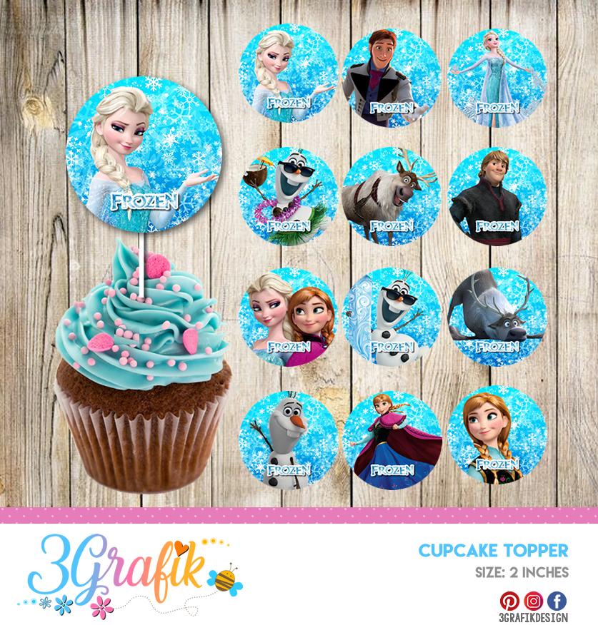 Marvelous Frozen Birthday Kit Toppers Cupcake Frozen Frozen Digital Frozen Birthday Cards Printable Benkemecafe Filternl