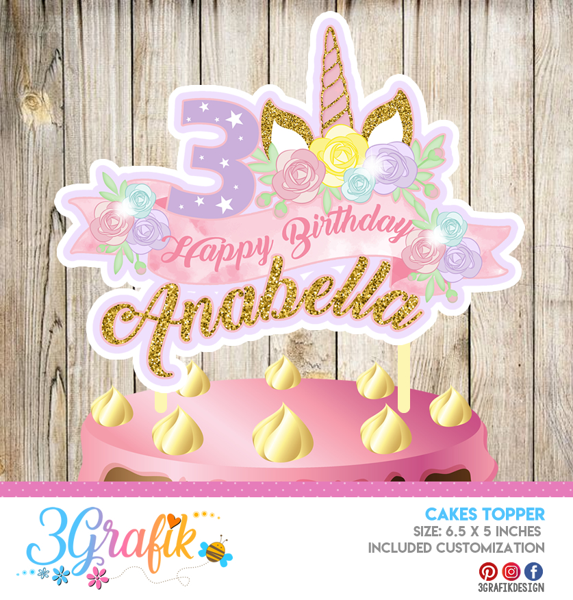 graphic regarding Unicorn Cupcake Toppers Printable named Unicorn Cupcake Topper Printable