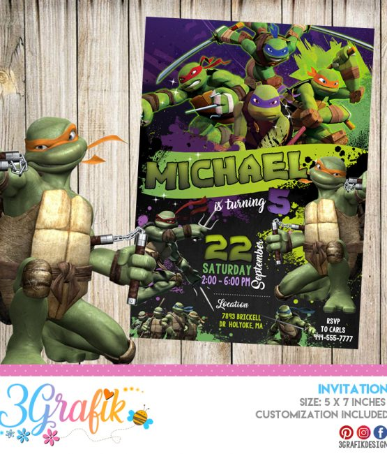 image regarding Ninja Turtles Invitations Printable named Ninja Turtles invitation Archives - 3Grafik Printable