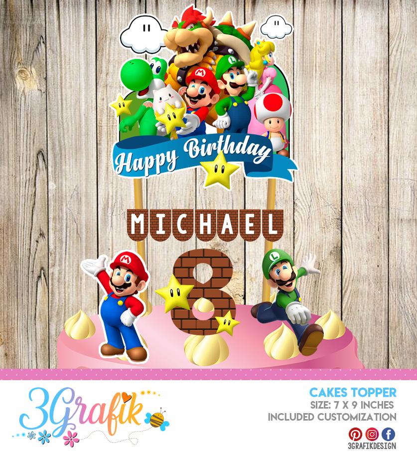 Super Mario Bros Cake Toppers 3grafik