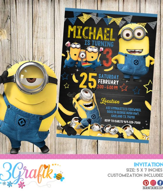 graphic about Minions Invitations Printable known as Minions Invitation Archives - 3Grafik Printable items