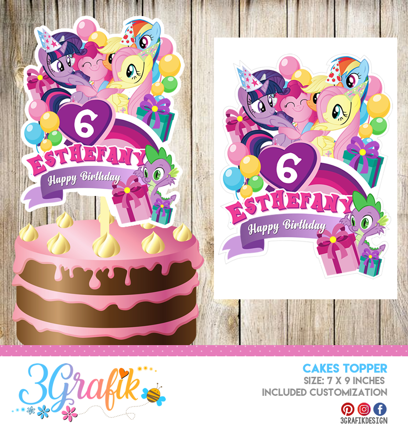 My Little Pony Cake Topper Pennant Printable