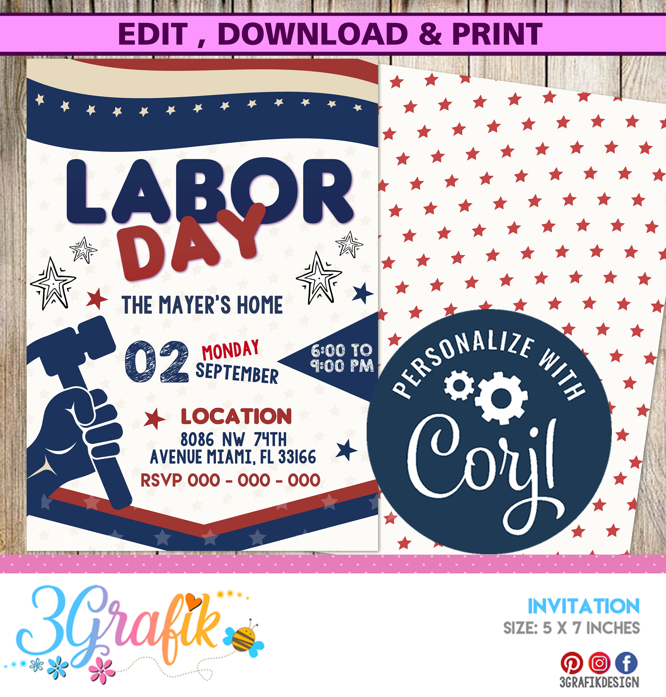 picture regarding Closed for Labor Day Printable Sign titled Labor Working day - Invitation Printable